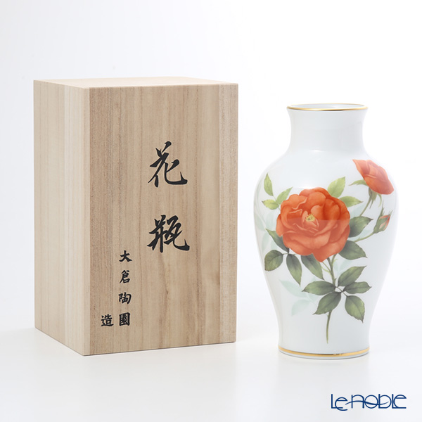 大倉陶園 プリンセスミチコ 19cm 花器 74A/A946-3