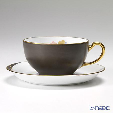 大倉陶園 碗皿ごよみ12ヶ月 香梅(如月) 碗皿(カップ&ソーサー) 89C/E031