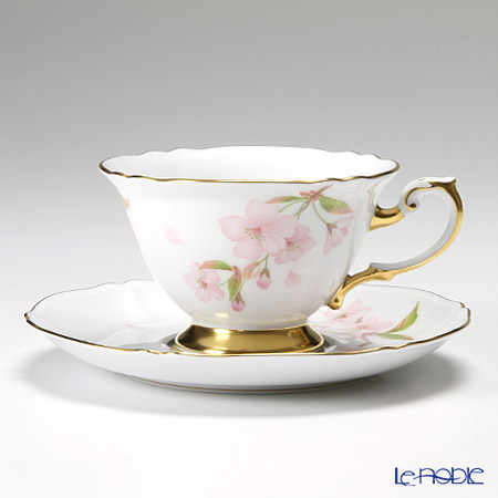Okura Art China Okura Monthly Cup and Saucer for April – Cherry blossoms in the night – Cup and Saucer 70C/E033