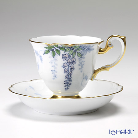 大倉陶園 碗皿ごよみ12ヶ月 藤(皐月)碗皿(カップ&ソーサー) 52C/E034