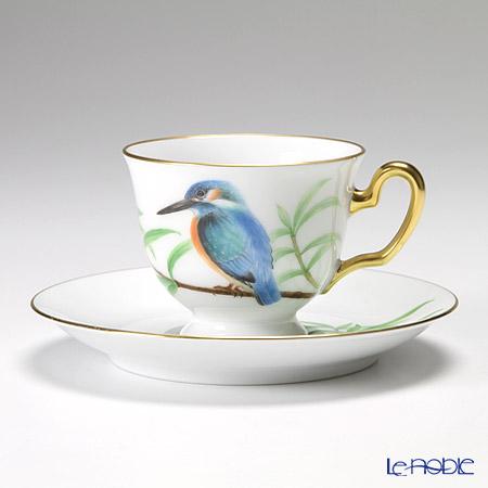 大倉陶園 碗皿ごよみ12ヶ月 かわせみ(文月) 碗皿(カップ&ソーサー) 83C/E036