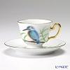 大倉陶園 碗皿ごよみ12ヶ月 かわせみ(文月)碗皿(カップ&ソーサー) 83C/E036