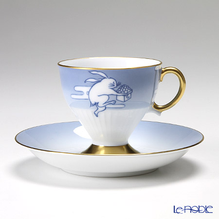 大倉陶園 碗皿ごよみ12ヶ月 月見(長月) 碗皿(カップ&ソーサー) 71C/E038