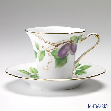 大倉陶園 碗皿ごよみ12ヶ月 あけび(神無月)碗皿(カップ&ソーサー) 80C/E039