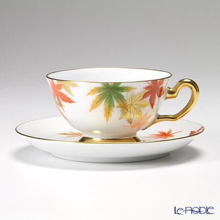 大倉陶園 碗皿ごよみ12ヶ月 紅葉(霜月) 碗皿(カップ&ソーサー) 6C/E040