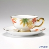 Okura Art China Okura Monthly Cup and Saucer for November – Maple – Cup and Saucer 6C/E040