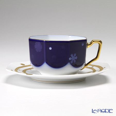大倉陶園 碗皿ごよみ12ヶ月 雪(師走) 碗皿(カップ&ソーサー) 74C/E041