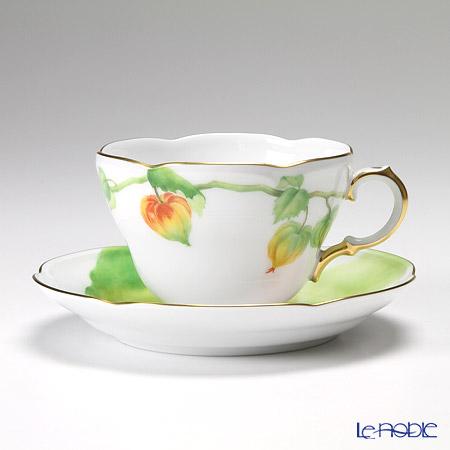 大倉陶園 碗皿ごよみ12ヶ月 ほおずき(葉月) 碗皿(カップ&ソーサー) 90C/E037