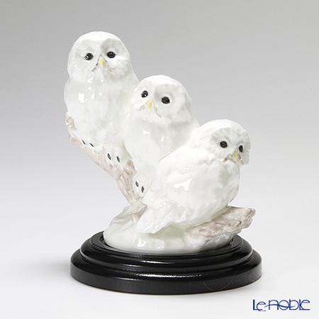 ノリタケ スタジオコレクション 置物 フクロウ三羽 H14.5cm(台付) K122/AC182