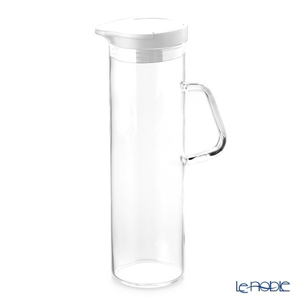 ハリオ ウォーターポット 1100ml ホワイト WTP-11-W 【耐熱ガラス製・熱湯用】