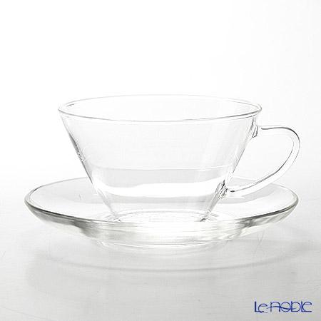 ハリオ 耐熱カップ&ソーサー・ワイドCSW-1T 230ml