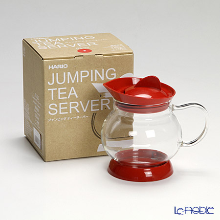 Hario 'Jumping' Red JTS-35-R [Micro Wave & Dish Washer OK] Tea Server 350ml (for 1-2 Cups)