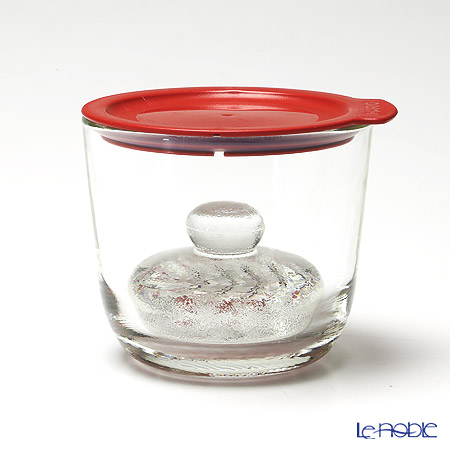 Hario 'Glass' Red GTK-S-R Overnight Salting Pickle Bowl 500ml