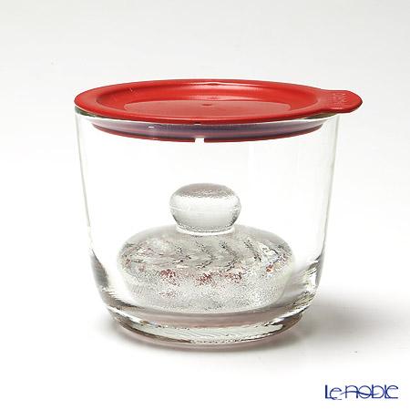 ハリオ ガラスの一夜漬け器 S GTK-S-R レッド 500ml