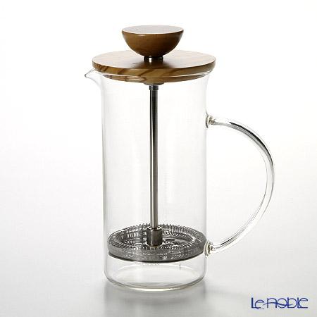 ハリオ ティープレス・ウッド THW-2-OV 300ml 2杯用