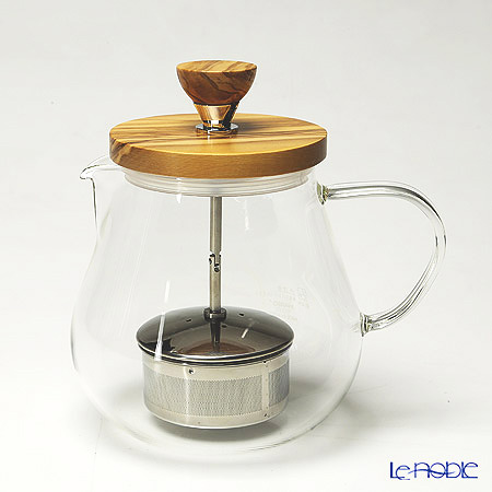 Hario 'Teaor Wood' TEO-70-OV [Hot Water] Pull-up Tea Maker / Pot with Strainer 700ml