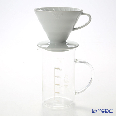 Hario V60 ceramic d Lipper & beaker set THD-3012 W 1 / 4 cup for measuring spoons & paper filter 100 copies made