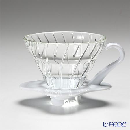 ハリオ V60 耐熱ガラス透過ドリッパー01 1〜2杯用ホワイト VDG-01W 【計量スプーン付】