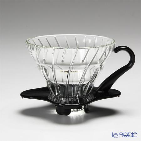 ハリオ V60 耐熱ガラス透過ドリッパー01 1〜2杯用 ブラック VDG-01B 【計量スプーン付】