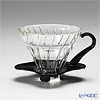 Hario Hot Brew Pour over V60 VDG-01B Coffee Dripper, Glass, Black