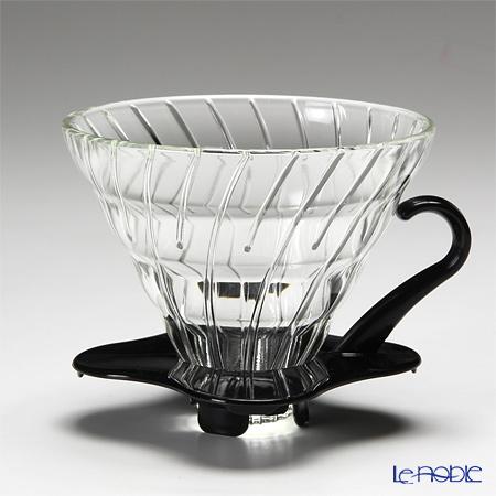 ハリオ V60 耐熱ガラス透過ドリッパー02 1〜4杯用 ブラック VDG-02B 【計量スプーン付】