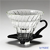 Hario Hot Brew Pour over V60 VDG-02B Coffee Dripper, Glass, Black