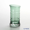 Hirota Glass -Edo Kiriko (case glass with cutting)- Green bamboo beer glass 145 cc, BAMBOO 84-GR