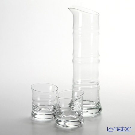Hirota glass BAMBOO 8681-W Sake 3-point set of clear