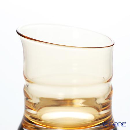 Hirota Glass 'Kin Take - Bamboo' Amber Yellow 83-AMB Sake Cup 80ml (L)