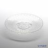 Hirota Glass 'Yuki Arare (Snow)' Opal White AR-3W Plate 16cm