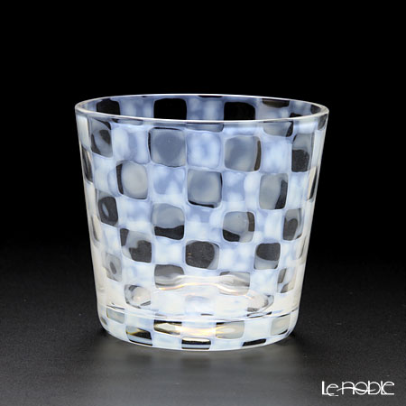 廣田硝子 大正浪漫硝子 TR-33-1 そばちょこ(ロックグラス) 市松 144ml