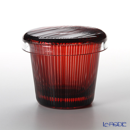Hirota Glass / Edo Kiriko Flashed Glass 'Takijima' Red FC-6 Covered Rock Glass