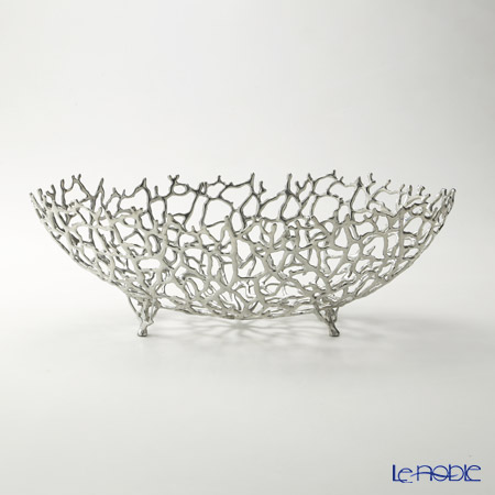 Loyfar 'Coral' [Pewter] Object / Footed Boat Bowl 35x15.5cm