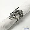 Asian goods Loyfar napkin rings pewter ハルオチア 4 x 6.5 cm NK036