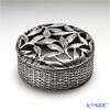 Loyfar (Pewter) 'Basket & Leaf' Covered Round Box 7cm