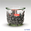 Loyfar (Pewter) 'Little Daisy Flower' Footed Candle Holder with Glass Cup / Bowl 6xH5.5cm