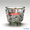 Loyfar (Pewter) 'Leaf' Footed Candle Holder with Glass Cup / Bowl 6xH5.5cm