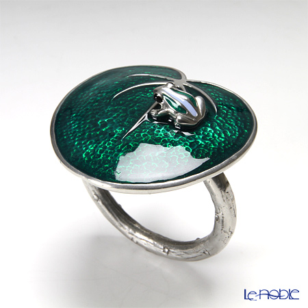 Loyfar (Pewter) 'Frog on Leaf' Green Napkin Ring