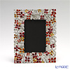 Loyfar (Pewter) 'Peony Flower' Red & Orange Photo Frame 14x17.5cm