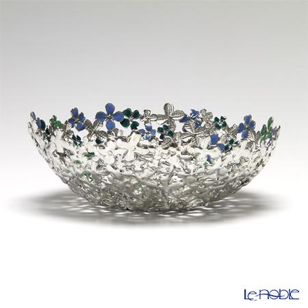 Loyfar 'Peony Flower' Blue & Green [Pewter] Bowl 15cm