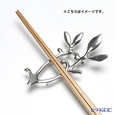 アジアン雑貨 LOYFAR 箸置き(ナイフレスト) ピューター製ツタ 9×5×1.5cm SR115