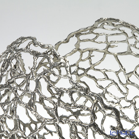 Loyfar 'Coral' [Pewter] Objet / Footed Bowl 23cm
