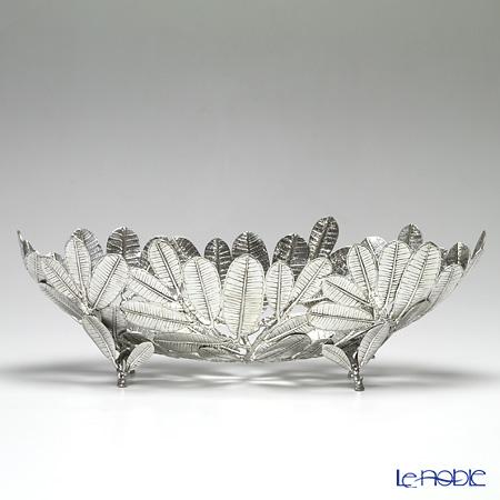 Loyfar 'Frangipani Leaf' [Pewter] Object / Footed Boat Bowl 45x18cm