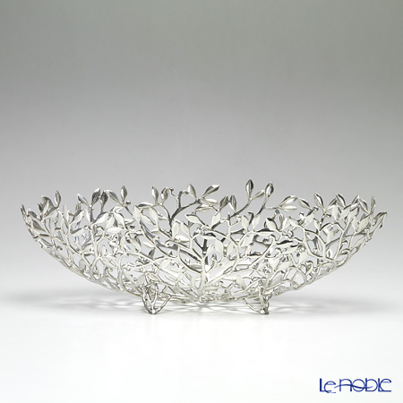 Loyfar 'Climber Leaf' [Pewter] Object / Footed Boat Bowl 16x13.5cm
