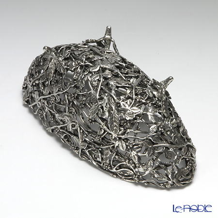 Loyfar 'Bird's Nest' [Pewter] Object / Footed Boat Bowl 24x11cm