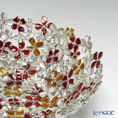 Loyfar 'Peony Flower' Red & Orange [Pewter] Bowl 16cm