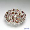 Loyfar (Pewter) 'Peony Flower' Red & Orange BOwl 16cm