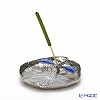 Loyfar 'Dragonfly on Lotus Leaf' Blue [Pewter] Incense Holder with Green Tea Incense Stick (set of 10)