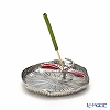 Loyfar 'Dragonfly on Lotus Leaf' Red [Pewter] Incense Holder with Green Tea Incense Stick (set of 10)
