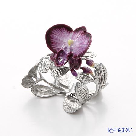 Loyfar 'Orchid Flower' Purple [Pewter] Napkin Ring